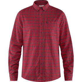 Fjällräven Övik Blouse Flanel Heren, deep red